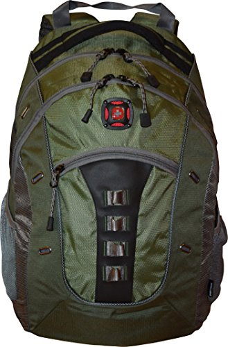 SwissGear%C2%AE Granite Double Backpack Black Green Grey