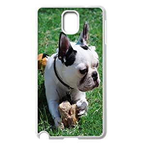 {Funny Series} Samsung Galaxy Note 3 Case Frenchie 2, Funny Case Okaycosama - White