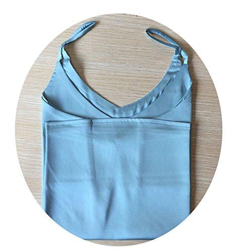 aoliaoyudongyongpin Silk Satin Halter Top Women Camisole 2018 Summer Style Sexy Sleeveless Vest (Propane Tank Top Heater Won T Stay Lit)