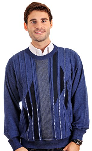 Cooper Men's Crew Neck Pullover Sweater.Finest Merino Wool Blend.Made in Canada.