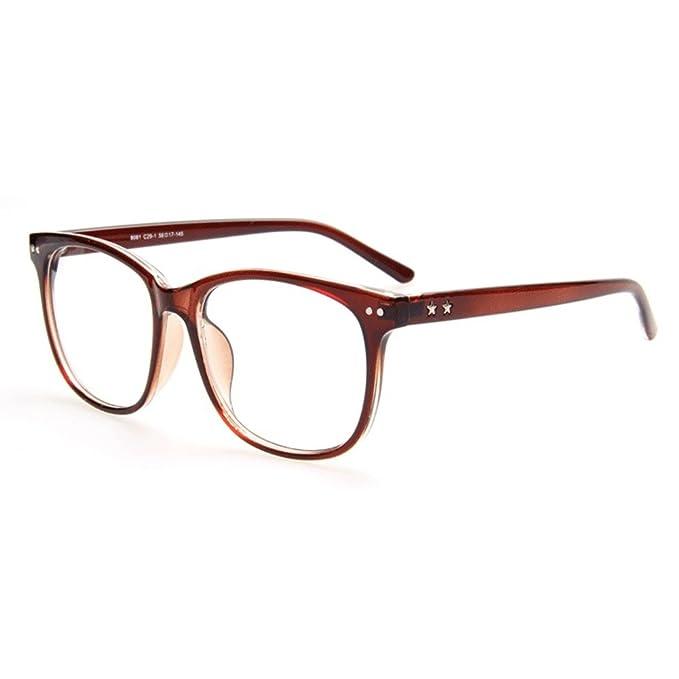 Männer Frauen Gläser - Klare Linse Brillengestell - Brillen + Brillenetui gratis - hibote #122815 eanVFxVrY1