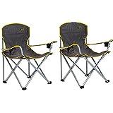 Quik Chair Heavy Duty Folding Camp Chair - Grey (2)