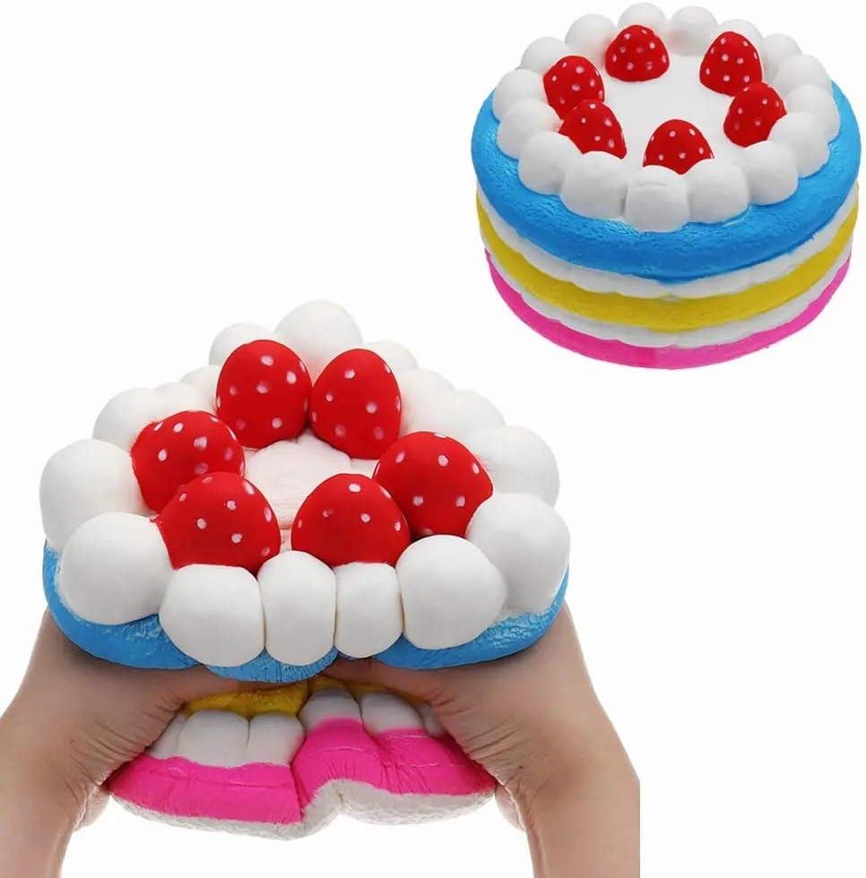 スクイーズ玩具 巨大イチゴケーキフワフワのパッケージング25 * 15CM巨大なスローライジングぬいぐるみギフトコレクション 子供 大人 (Color : 1, Size : 1)
