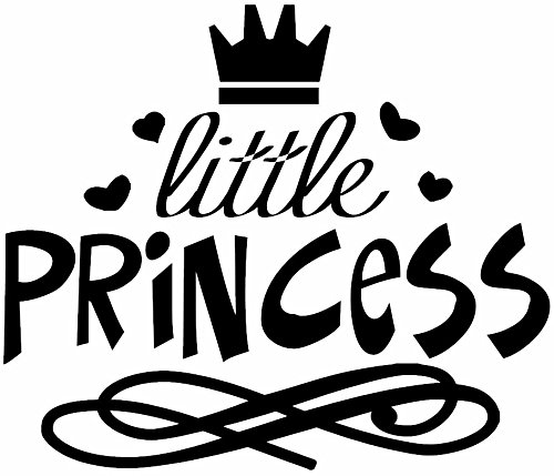 Princess Wall Decals For Your Girls. Treat Them As Disney Princesses In Their Castle. Express Your Love. Make Them Feel They Have Nothing To Envy To A Disney Princess. - Black