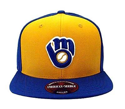 Milwaukee Brewers AN Retro Replica Wool Snapback Cap Hat Blue Yellow
