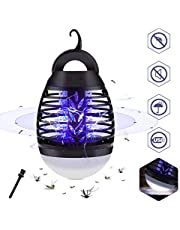 GEEDIAR Mosquito Killer Lamp UV Bug Zapper Camping Lantern - 2 in 1 Portable IP67 Waterproof Tent Light Insect Killer USB Rechargeable, 3 Lighting Modes and Retractable Hook for Indoor&Outdoor