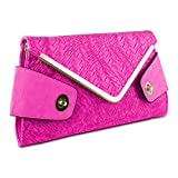 NEW Mad Style Owl Envelope Clutch, Pink