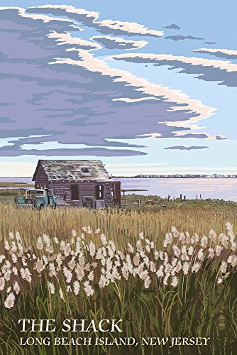 Long Beach Island, New Jersey - The Shack (16x24 Giclee Gallery Print, Wall Decor Travel Poster)