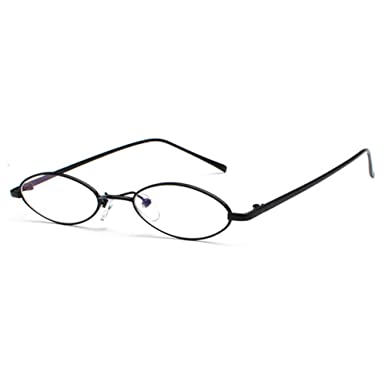 Petites lunettes de soleil ovales Hommes Femmes juqilu Retro Vintage Small  Sunglasses UV400 C1 9b38390a7549