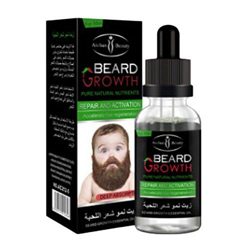 Suiez Organic Beard Oil Growth, Hand Crafted, 100% Natural Best Men's Beard Oil (Grow Your Beard Fast) Beard Growth Oil