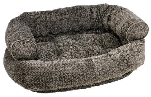 Bowsers Pewter Bones Microvelvet Double Donut Bed (X-Lare)