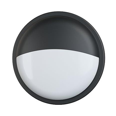 20W LED redondo montado en la pared luminaria negro, luz de pared, iluminación exterior