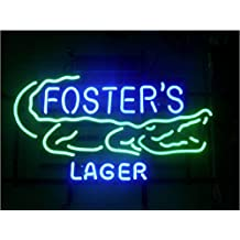 Fashion Neon Fosters Lager Real Glass TNeon Signs Handcrafted Bulbs Beerbar Shop Display Neon Sign19x15!!!Best Offer!
