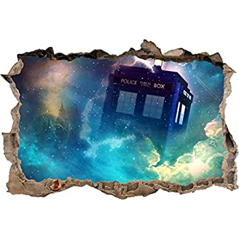 Tardis Dr. Who Smashed Wall Decal Removable Graphic Wall Sticker Art Mural  H292, Regular Part 35