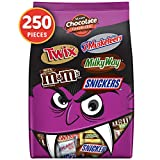 SNICKERS, TWIX, MILKY WAY, 3 MUSKETEERS & Milk Chocolate M&M'S Halloween Candy Bars Variety Mix 96.2-Ounce 250 Count (Pack of 1)