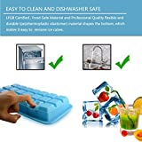 Silicone Ice Cube Tray with Lid Cover, BPA Free, 21 Cubes Each, Easy Release Ice Cubes Molds for Cocktail, Whiskey, Coffee, Fruit Juice by Ezeagbor (1 pcs, blue)