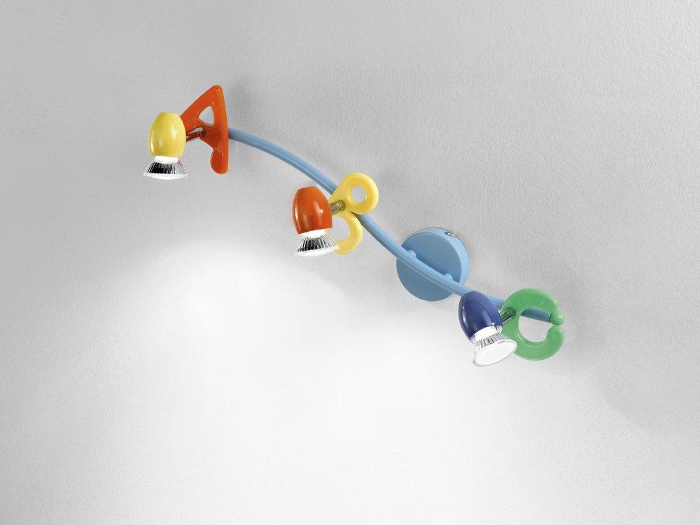 Plafoniere Cameretta Bambino : Luce spot perenz 3 luci multicolore con faretti orientabili misure