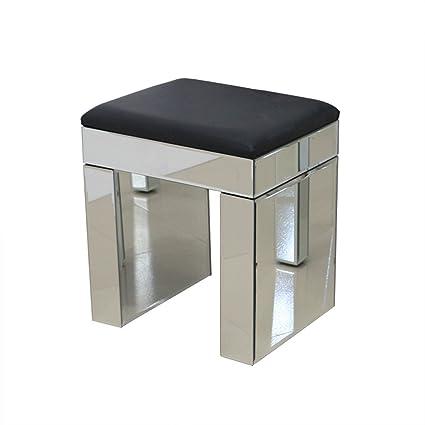 anjohn espejo muebles vidrio taburete con piel sintética de color ...