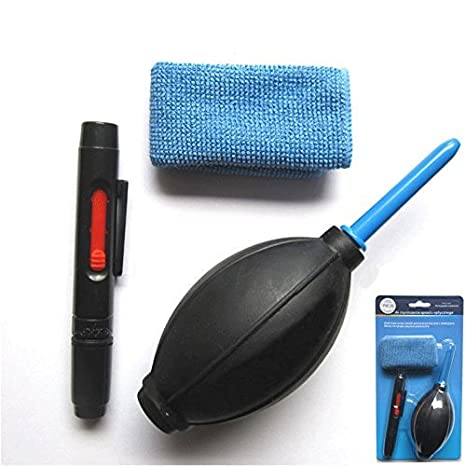 ekoogo 3 en 1 lente limpieza Cleaner polvo Pen Blower Cloth Kit ...