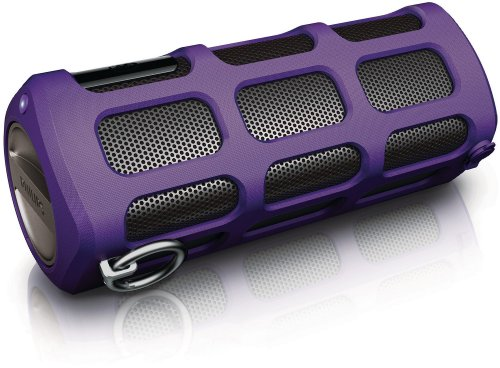 Philips Shoqbox Portable Bluetooth Speaker SB7260/37 (Purple) (Discontinued by Manufacturer) (Systems Philips Speaker)