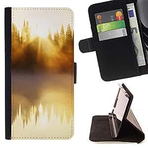 Momo Phone Case / Flip Funda de Cuero Case Cover - Naturaleza Hermosa Forrest Verde 48 - Sony Xperia Z5 Compact Z5 Mini (Not for Normal Z5)