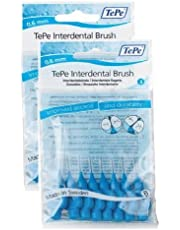TePe Interdental Brushes 0.6mm Blue - 2 Packets of 8 (16 Brushes)