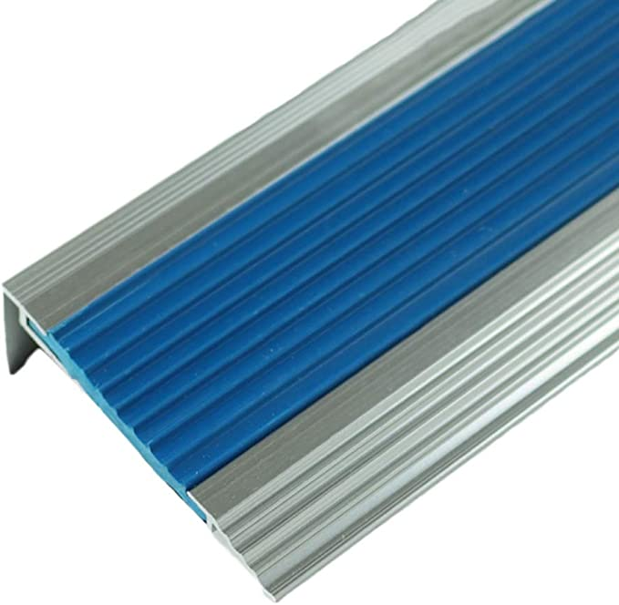 Perfil de transición Tira antideslizante de escalera de aleación de aluminio Tira de goma de pasos de jardín de infantes Tira decorativa del piso Tira de prensa de mármol Tira anticolisión: Amazon.es: