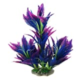 CNZ Aquarium Decor Fish Tank Decoration Ornament Artificial Plastic Plant Green (10-inch Purple)