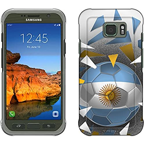 Samsung Galaxy S7 Active Case, Snap On Cover by Trek Soccer Ball Argentina Flag Slim Case Sales