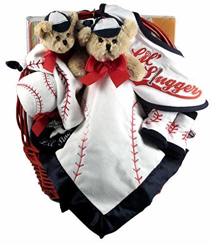 Gift Basket Village Lil' Slugger, Baseball Gift Basket for New Baby Boys, 8 Pound