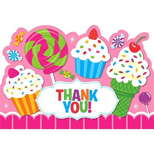 Postcard Thank You Cards | Sweet Shop Collection | Party Accessory