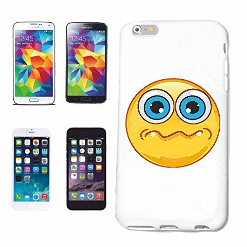 """cas de téléphone iPhone 6+ Plus """"Intrigué SMILEY avec de grands yeux """"SMILEYS SMILIES ANDROID IPHONE EMOTICONS IOS grin VISAGE EMOTICON APP"""" Hard Case Cover Téléphone Covers Smart Cover pour Apple iPh"""