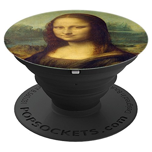 Masterpiece Collection Pedestal - Mona Lisa La Gioconda Masterpiece Painting PopSockets - PopSockets Grip and Stand for Phones and Tablets
