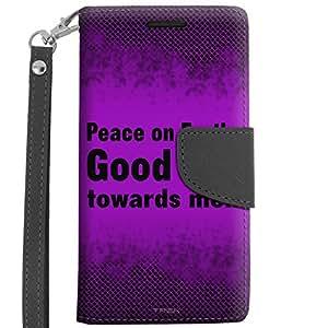 LG Tribute 2 Wallet Case - Peace on Earth Good Will Towards Men