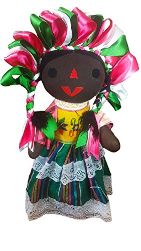 Jacq & Jürgen Mexican Rag Doll Large Maria 18 inches Tall Authentic Toy Handcraft Traditional Costume Assorted Colors / Premium Materials