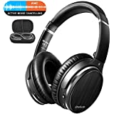 OneOdio Active Noise Canceling Bluetooth 4.1 Headphones with Mic, Wireless Wired Comfortable Foldable Stereo ANC Over Ear Headset for Airplane Travel Work TV PC Phone Computer
