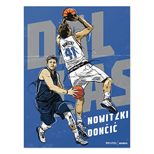 500 LEVEL Dirk Nowitzki Poster for Young Dallas Basketball Fans - Royal Blue 18
