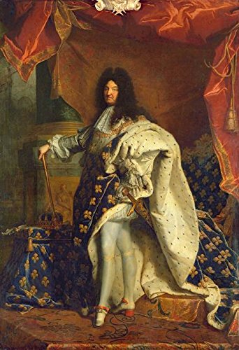 Costume De Louis 14 (Wall Art Print entitled Louis XIV In Royal Costume, 1701 by The Fine Art Masters | 7 x 10)