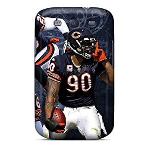 JoanneOickle Samsung Galaxy S3 Durable Cell-phone Hard Cover Support Personal Customs Lifelike Chicago Bears Skin [Veu4363gTCh]