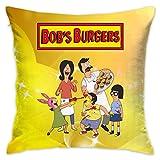 KOPDSE Bobs Burgers Family Fun Soft Square Throw Pillow Case Cushion Cover 18x18