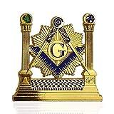 Masonic Pillars Car Emblem Shining Square & Compass