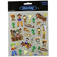 Tattoo King Multi-Colored Stickers-Cowboys & Indians