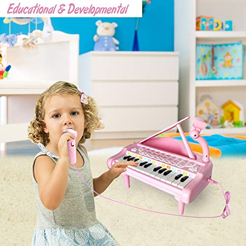 Conomus Piano Keyboard Toy for Kids,1 2 3 4 Year Old Girls First Birthday Gift , 24 Keys Multifunctional Musical Electronic Toy Piano for Toddlers by Conomus (Image #6)