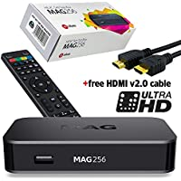 MAG 256 Original IPTV SET TOP BOX Multimedia Player Internet TV IP Receiver (HEVC H.265) faster than MAG254