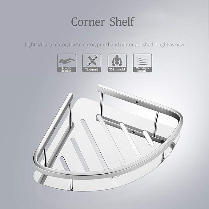 Amazon.com: SHOW Estante de baño esquinero de ducha de acero ...