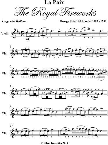 La Paix Royal Fireworks Easy Violin Sheet Music (Music For The Royal Fireworks Sheet Music)