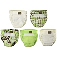Kushies UL2005N 5 Pack Washable Ultra-Lite Diaper For Infant, Neutral Print