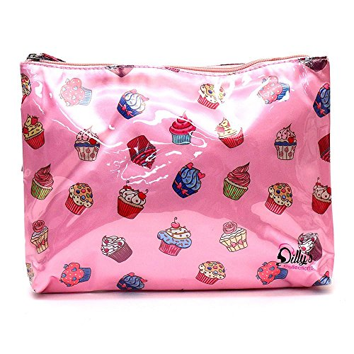 (Makeup Cosmetic Bag - Toiletry Bag Women Wash Bag - Cosmetic Gift Set Travel - Bathroom Gift - Cupcake Toiletry)