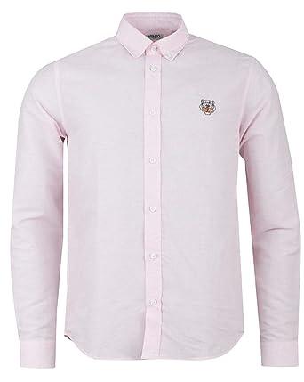 2014ad19d Kenzo Mens Tiger Crest Cotton Poplin Pink Shirt: Amazon.co.uk: Clothing