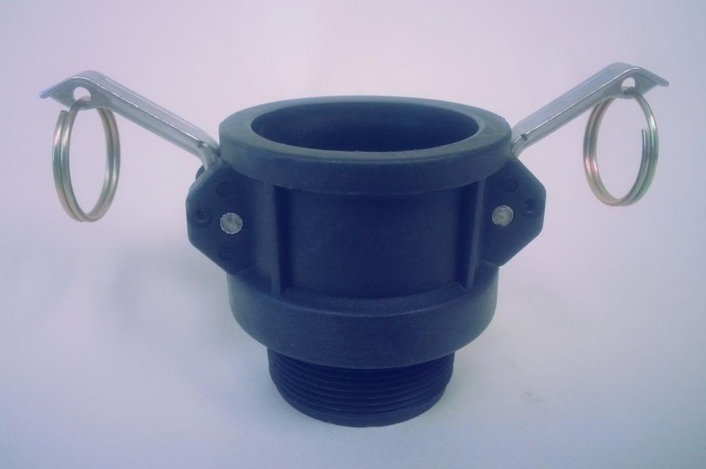 Pro Flow 1-1//4 Type B Adapter Polypropylene